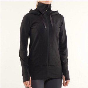 Lululemon Stride Jacket Hooded Black Size 8